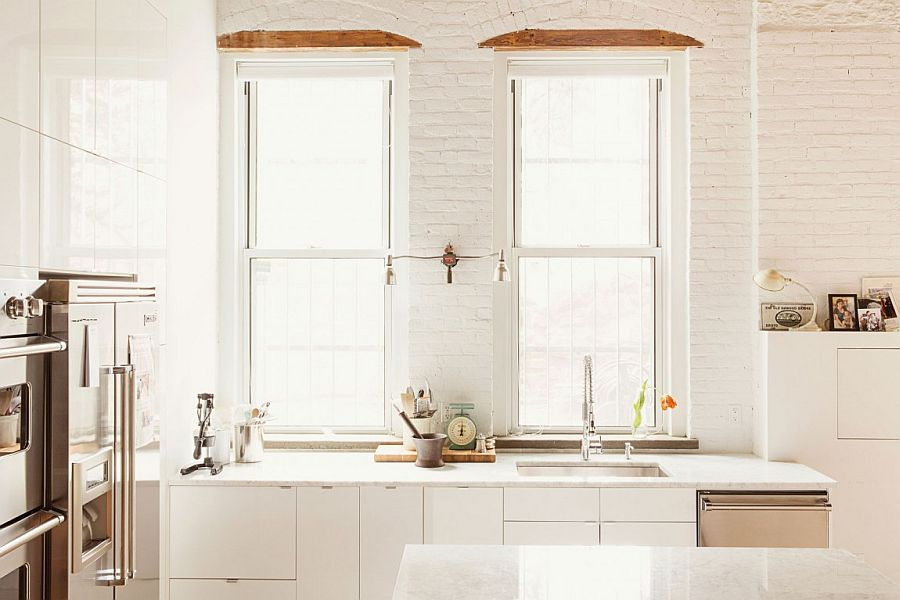 Large, industrial, ground floor space turned into stylish home in Williamsburg