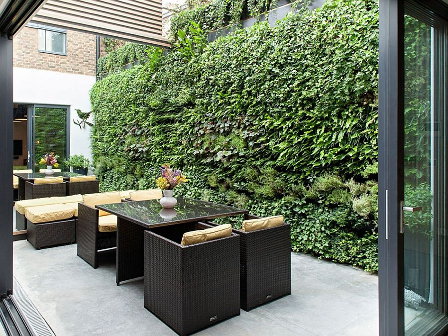 Lovely private courtyard of the Calvin Street House in London
