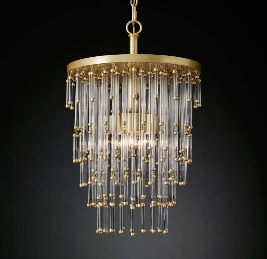 View in gallery Luciano chandelier from RH Modern - New Brass Furniture And Decor From RH Modern