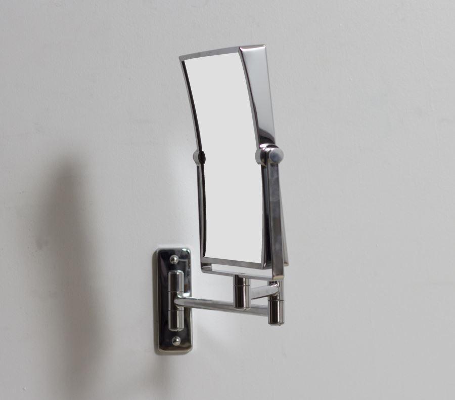 Magnifying rectangular wall mirror