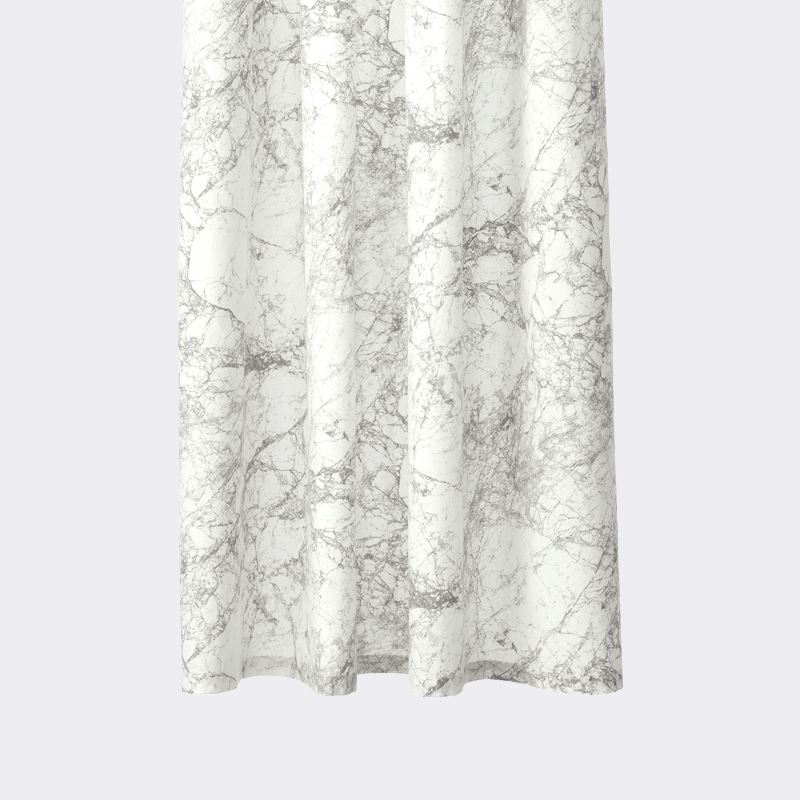 beige and white shower curtain. View In Gallery Marble Shower Curtain From Ferm LIVING The Latest Shower Curtain Trends