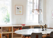 Marble-top-dining-table-gives-the-interior-a-glamorous-facelift-217x155