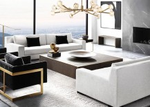 Milo Baughman chairs from RH Modern 217x155 New Brass Furniture and Decor from RH Modern