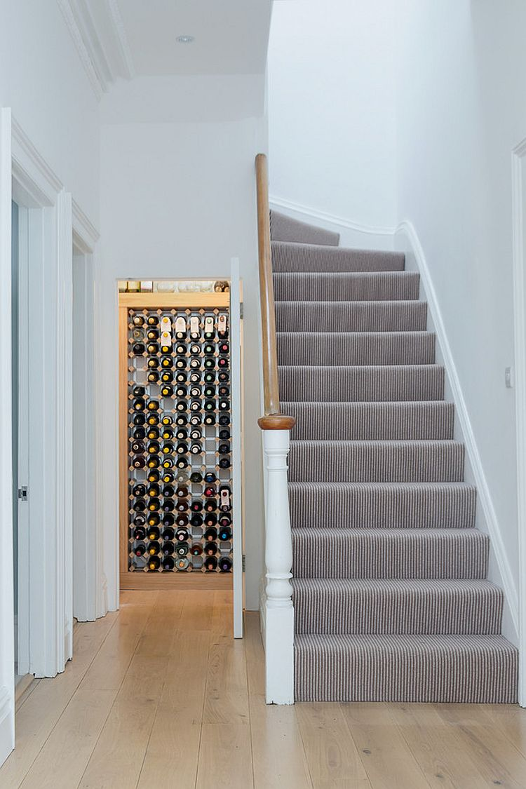 Minimal approach to wine storage in the contemporary home [Design: Moon Design + Build]