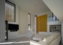 Minimal, modern interior of Villa Brash