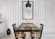 Minimalism and shabby chic styles come together in the space-conscious dining area [From: rakuten]