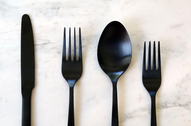 Modern black flatware