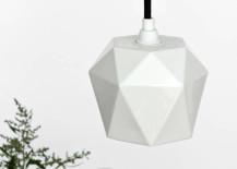 Modern faceted porcelain pendant light