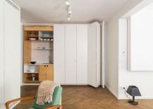 Modern hidden kitchen design