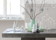 Modern winter wonderland from CB2 217x155 A 2015 Holiday Decor Preview