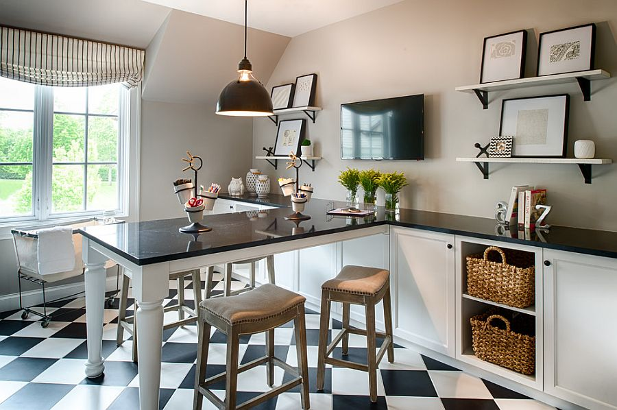 Brilliant 30 Black And White Home Offices That Leave You Spellbound Largest Home Design Picture Inspirations Pitcheantrous
