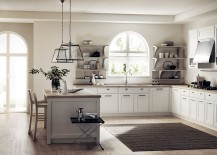 Natural light becomes an important element of the shabby chic kitchen