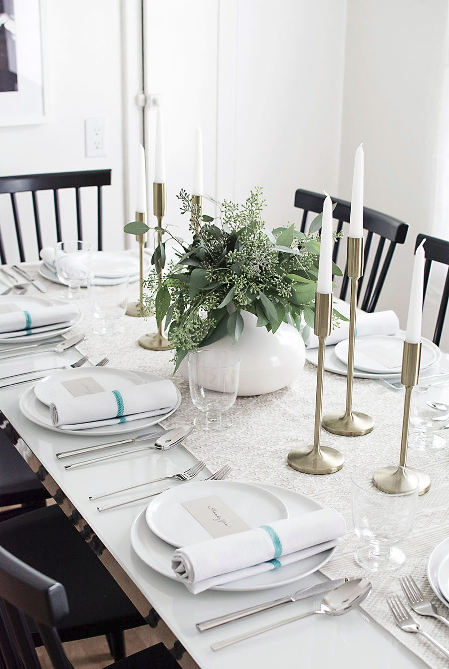 Neutral fall table from Homey Oh My!