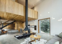 Open living area of the Dawes Road House in Australia