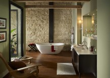 Oyster-Cut-Coarse-Stone-shapes-the-fabulous-backdrop-in-this-zen-styled-modern-bathroom-217x155
