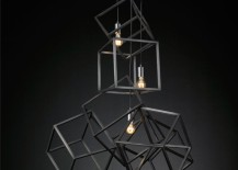 Pendant light with cubes from RH Modern
