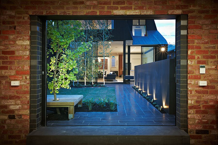 Perfect way to turn the courtyard or backyard into a stunning showstopper after sunset [Design: DDB Design Development & Building]