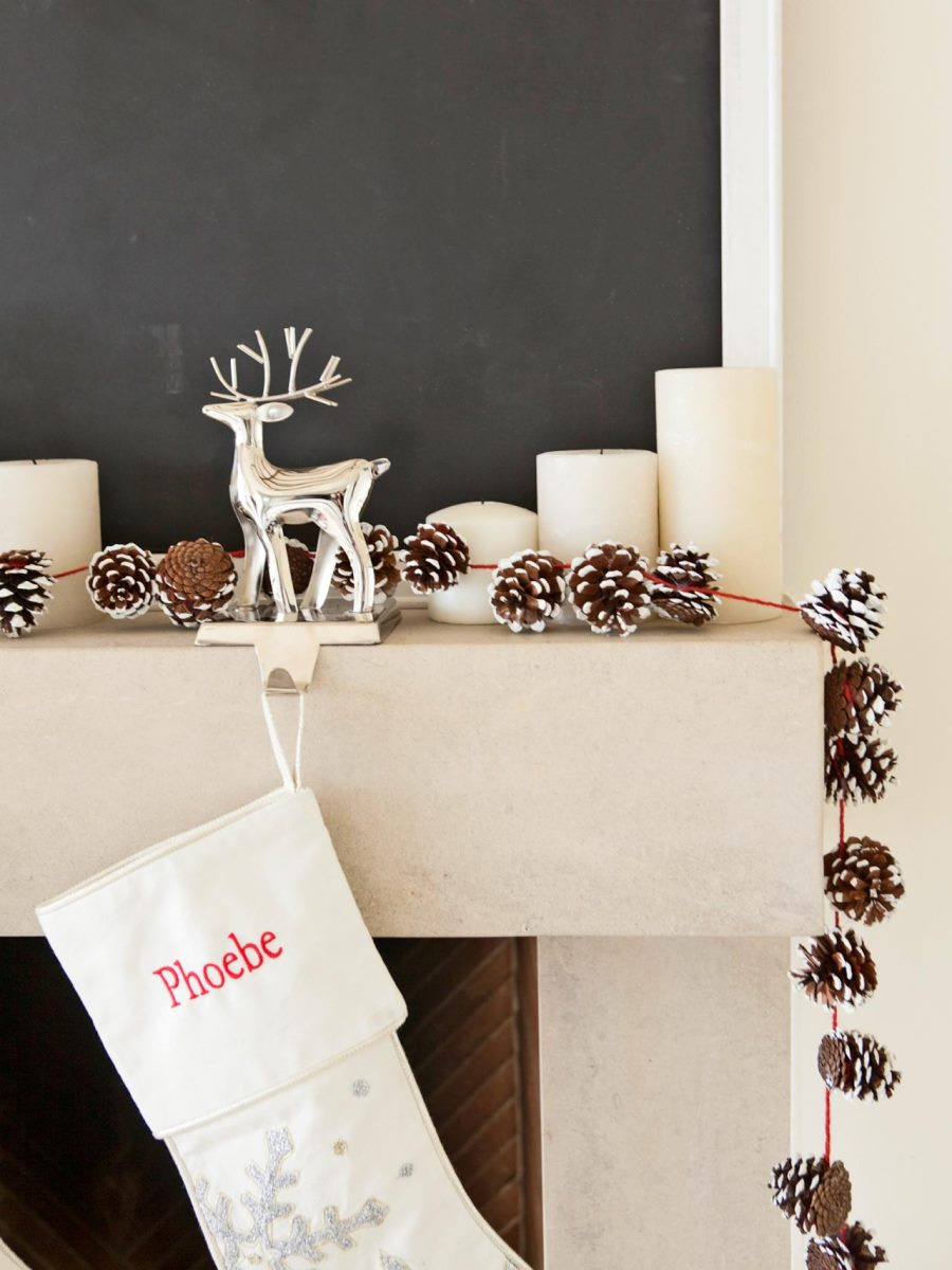Pinecone garland from HGTV