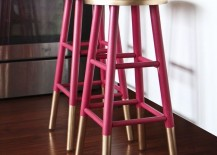 Have a look at some of the following kitchens to see how much of a difference can be made by using brightly colored bar stools