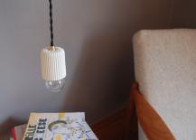 Pleated porcelain pendant from Etsy shop Fabrique Deco