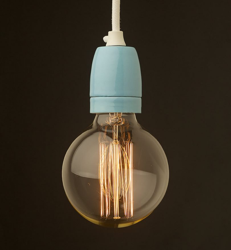 Porcelain pendant from Edison Light Globes