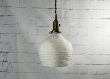 Porcelain pendant light from Etsy shop L&S Handcrafted Lighting