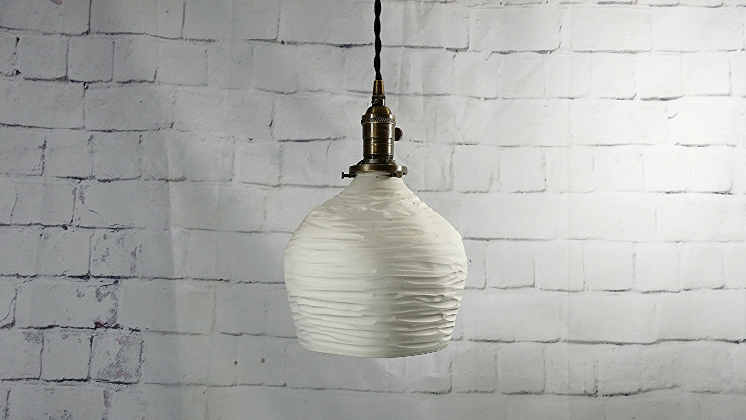 Porcelain pendant light from Etsy shop L&S Handcrafted Lighting