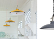 Porcelain pendant lights with industrial style