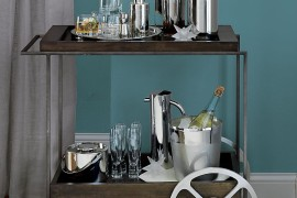 Porter Bar Cart from CB2 Stocking Your Holiday Bar Cart Stocking Your Holiday Bar Cart Porter Bar Cart from CB2 270x180