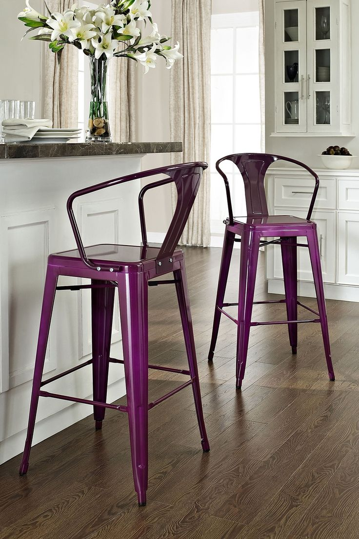 Purple Amelia Metal Cafe Barstool from Haute Look