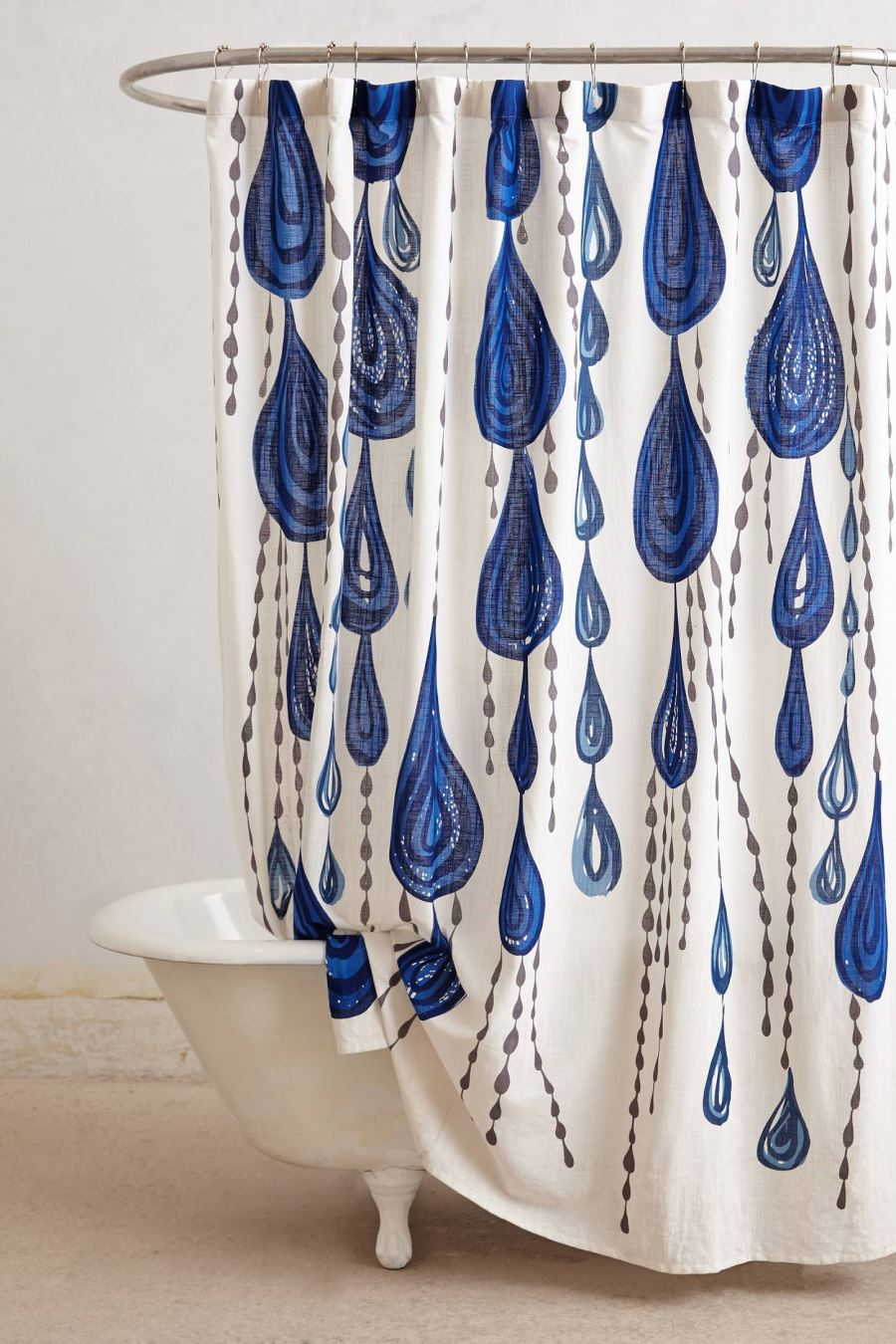 Raindrop shower curtain from Anthropologie