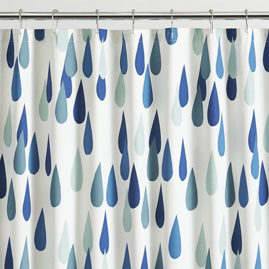 View In Gallery Raindrop Shower Curtain From Crate Barrel