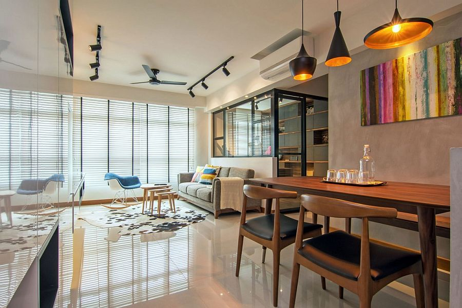 Home In Singapore Space Savvy Interior Laced With
