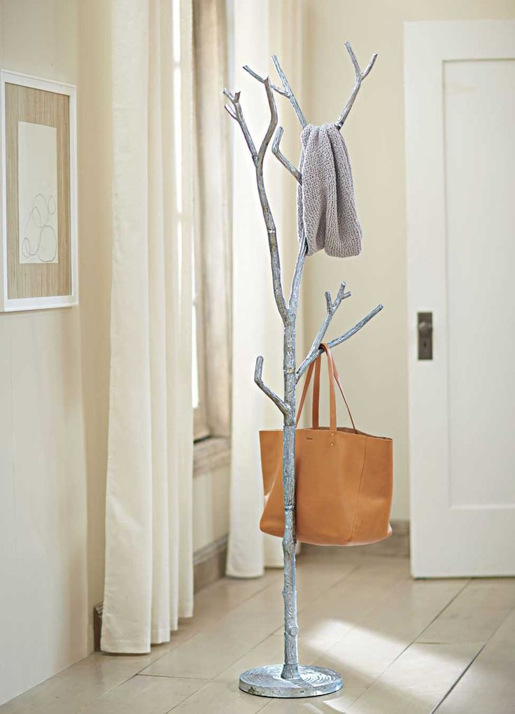 Silver metal branch coat tree from VivaTerra