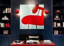 Red makes a big visual impact despite limited use