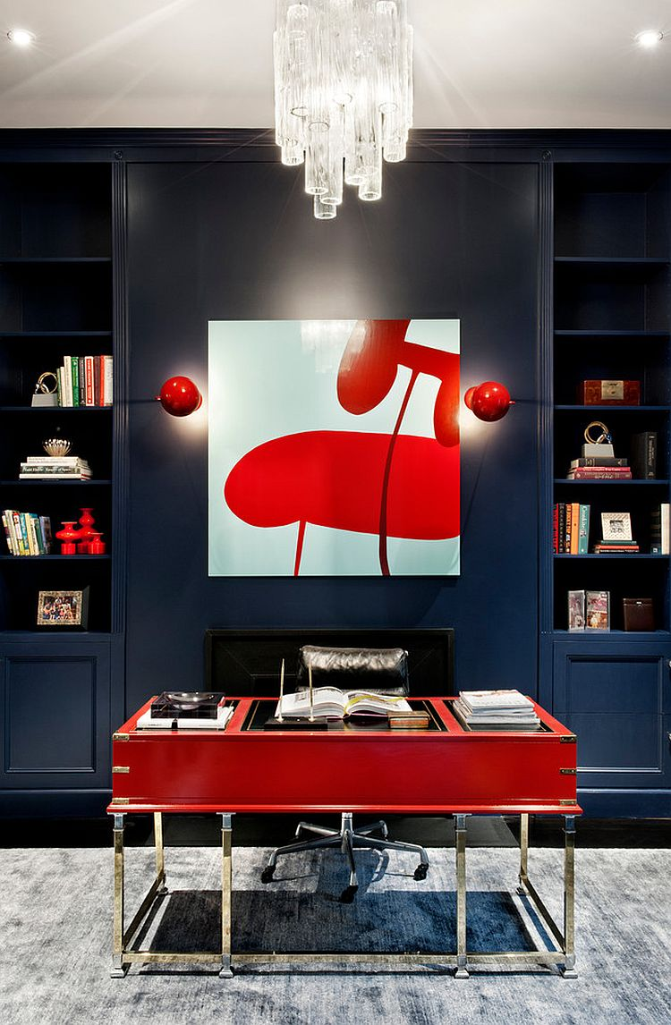 Red makes a big visual impact despite limited use [Design: David Howell Design]