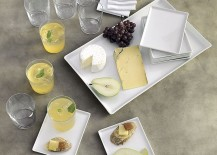 Refreshing neutral tones in a table setting from CB2