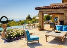 Relaxing patio of the Malibu home bings home holiday luxury