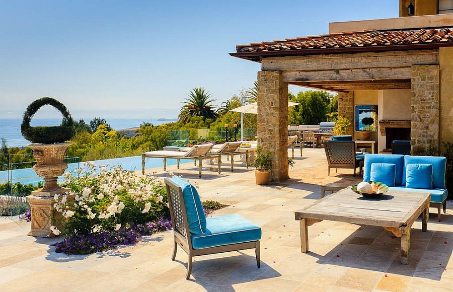 Relaxing patio of the Malibu home bings home holiday luxury