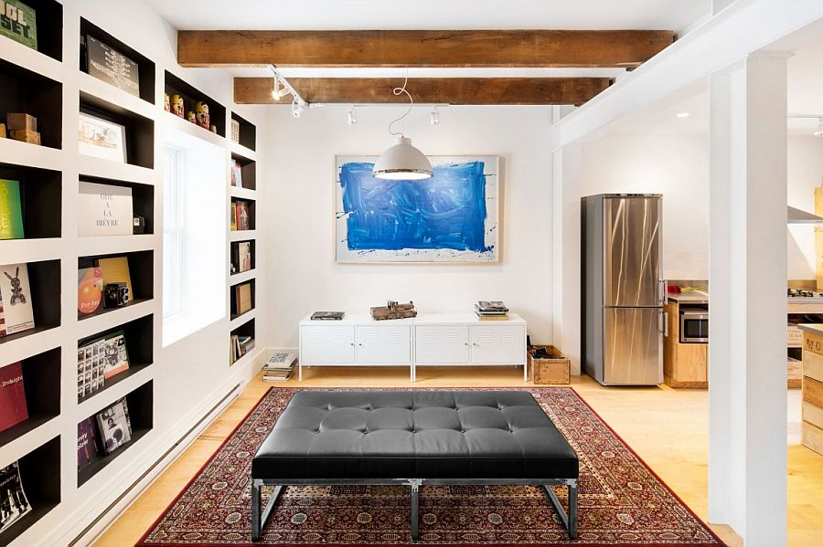 Remodeled interior of the 1880s row house in Montreal