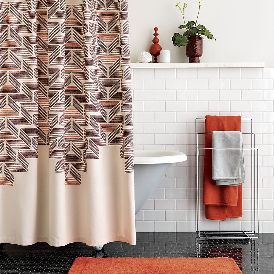View In Gallery Retro Style Shower Curtain From CB2