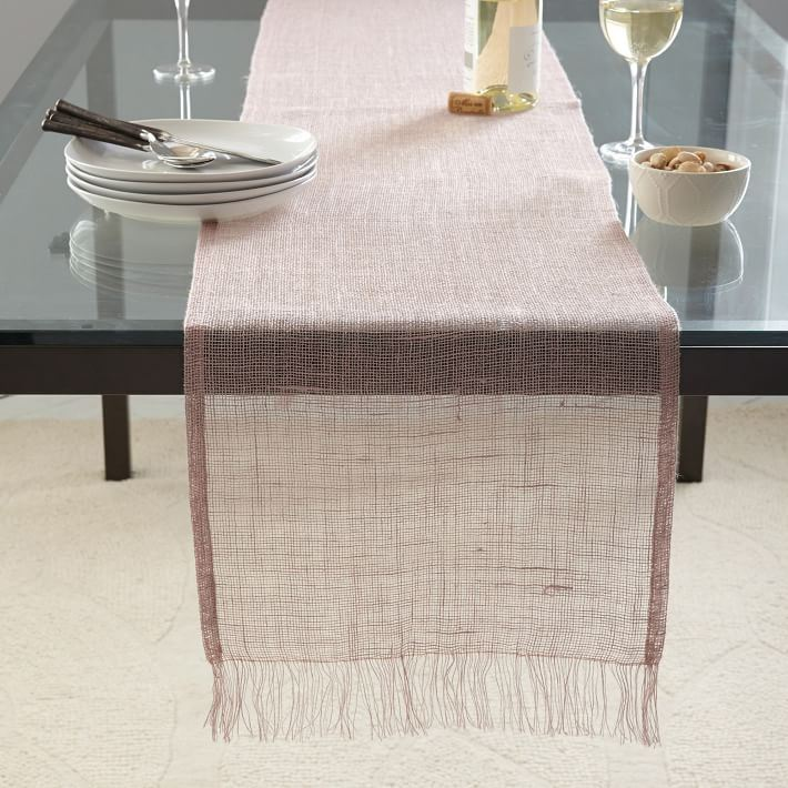 Rosy table runner from West Elm