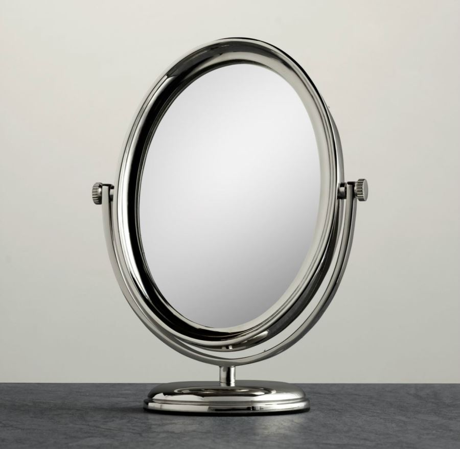 View in gallery Round freestanding shaving mirror from Restoration Hardware. 20 Stylish Shaving Mirrors