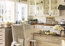 Few Styles Work As Charmingly In Small Kitchens As Shabby Chic For Starters The Style Allows You To Use Pretty Much Any Revamped Table Or Salvaged D Cor