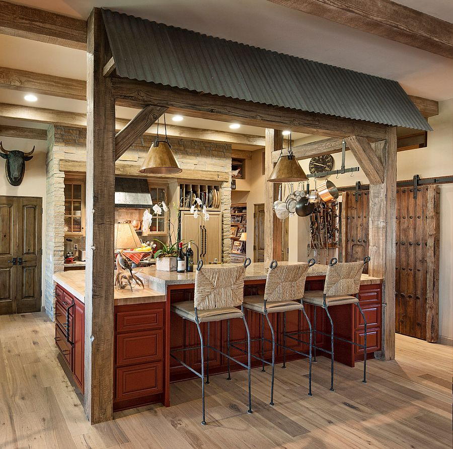 Rustic design elements create a cozy and practical kitchen [Design: Vernon Sons Construction]