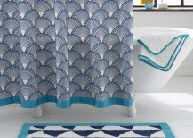 Scale pattern shower curtain from Jonathan Adler 217x155 The Latest in Shower Curtain Trends