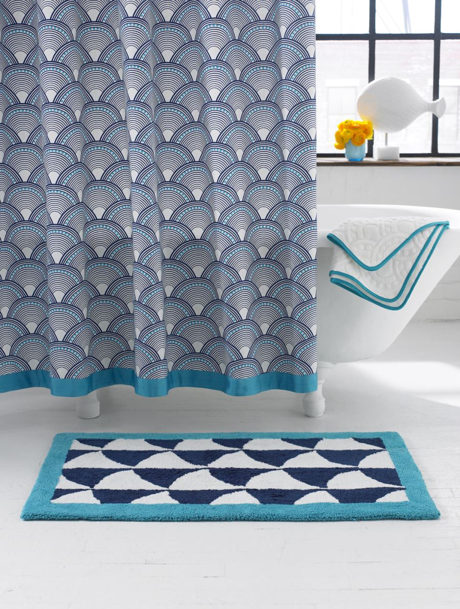 Scale-pattern shower curtain from Jonathan Adler