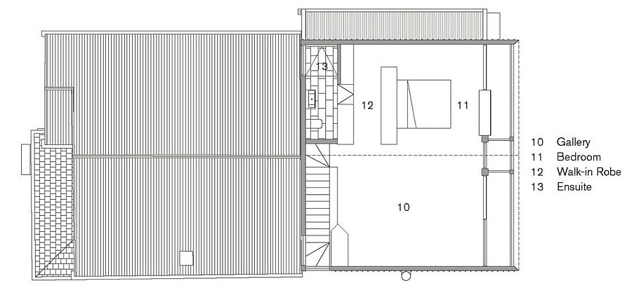 Second level floor plan of the Doll's House