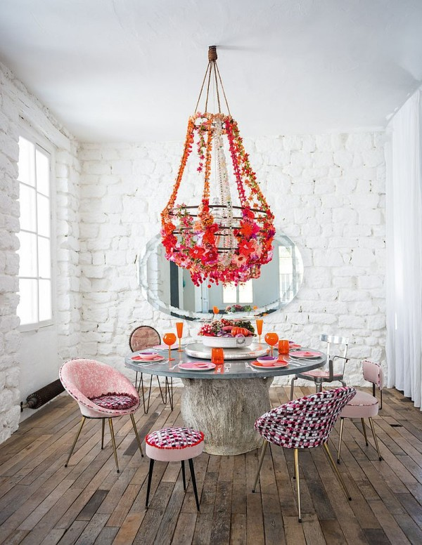 50 Fabulous Shabby Chic Kitchens That Bowl You Over: Upcycled And Recycled Finds Create A Small Dining Room