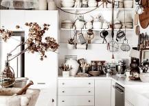 Shabby chic kitchen celebrates white